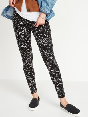 Old Navy High-Waisted Cozy-Lined Cheetah Print Leggings for Women