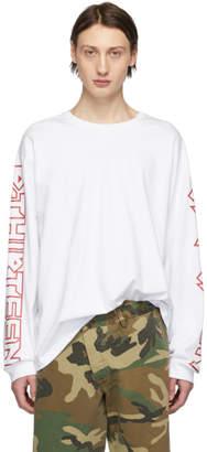 R 13 White RThirteen Long Sleeve T-Shirt