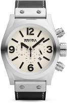 Brera OROLOGI Eterno Chrono Stainless Steel Watch with Black Leather Strap, 45mm
