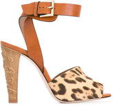 RED Valentino animal print sandals - women - Leather/Calf Hair - 36