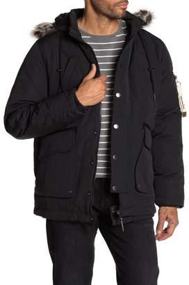 Triple Five Soul Faux Fur Trimmed Hooded Jacket