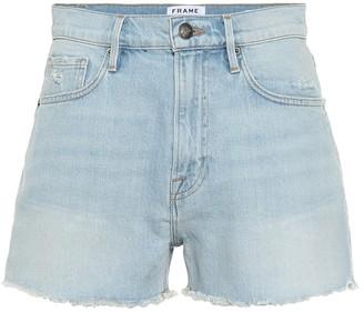Frame Le Vintage high-rise denim shorts