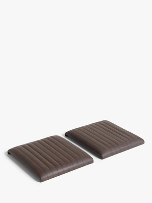 John Lewis & Partners Brooks Faux Leather Seat Pad, Set of 2