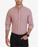 Nautica Men's Big & Tall Coral Plaid Shirt