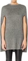 Max Studio Metallic Sweater Cape