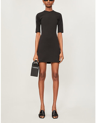 Artica Arbox Piping-detail stretch-woven mini dress