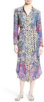 Saloni Women's Molly Print Silk Shirtdress