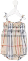 Burberry pale Classic Check body - kids - Cotton - 1 mth