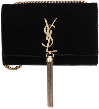 Saint Laurent Black Suede Kate Shoulder Handbag