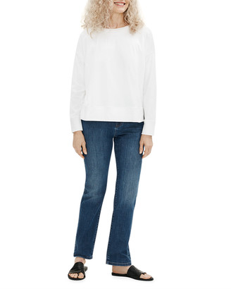 Eileen Fisher Plus Size Organic Stretch Cotton High-Rise Straight-Leg Jeans