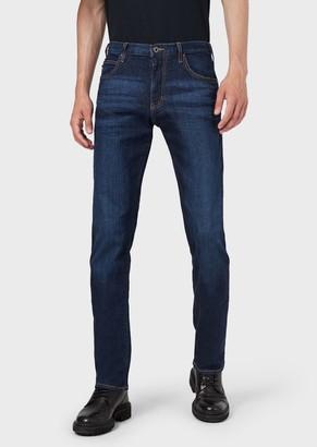 Emporio Armani Regular-Fit J45 Stretch Cotton Denim Jeans