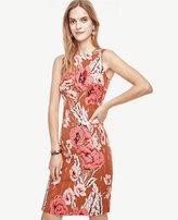Ann Taylor Poppy Jacquard Sheath Dress