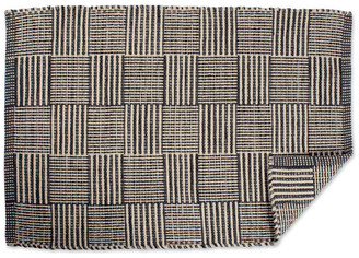 Design Imports DII Gray Squares Recycled Yarn Rug 2'x3'