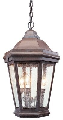 Theodore Large 3-Light Outdoor Hanging Lantern Darby Home Co Finish: Antique Bronze, Bulb Type: Incandescent