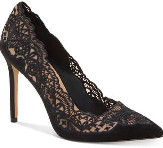 INC International Concepts Inc Kyomi Lace Pump, Women Shoes