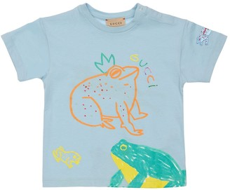 Gucci Frog Print Cotton Jersey T-Shirt