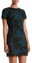 Dress the Population Women's Valerie Sequin Lace Sheath Dress