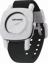 Converse VR021001 1908 Regular Square Analog Dial and Black Canvas Pull Through Strap Watch