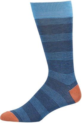 Neiman Marcus Alternating Needlecord Stripe Socks