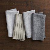 Crate & Barrel Set of 4 Suits Linen Cloth Dinner Napkins