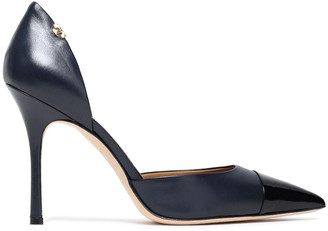 Tory Burch Patent-paneled Leather Pumps