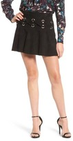 Parker Women's Grommet Suede Miniskirt