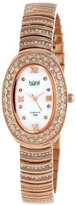 Burgi Women's BUR070RG Diamond Oval Quartz Bracelet Watch