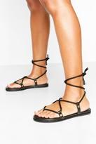 boohoo Rope Tie Sandals