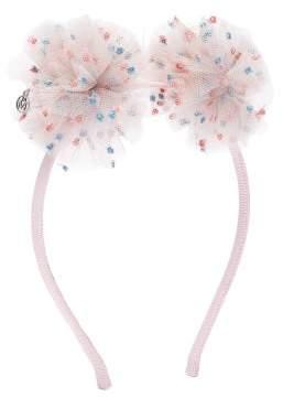 Maison Michel Yosh Polka Dot Tulle Hairband - Womens - Pink