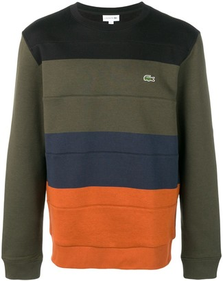 Lacoste striped logo jumper