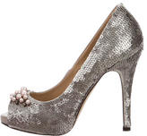 Valentino Embellished Sequined Pumps