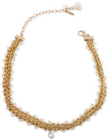 lonna & lilly Gold-Tone Imitation Pearl Accented Choker Necklace