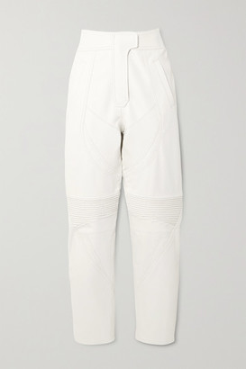 Stella McCartney Paneled Vegetarian Leather Tapered Pants - White