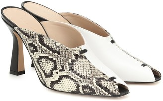 Wandler Exclusive to Mytheresa Niva snake-effect leather mules