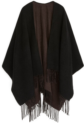 Arket Woven Wool Poncho