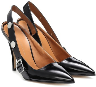 Victoria Beckham Patent leather slingback pumps