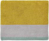 Clarissa Hulse Mini Patchwork Knitted Throw - Aqua