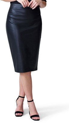 Universal Standard Sillaro Faux Leather Pencil Skirt