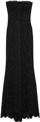 Dolce & Gabbana Strapless Corded Lace Gown