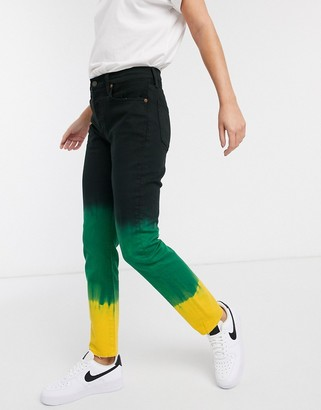 Polo Ralph Lauren tie dye jean in black