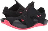 Nike Sunray Protect 2 (Little Kid) (Black/Racer Pink) Girls Shoes