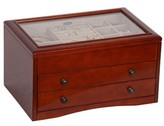 Mele Haywood Glass Top Jewelry Box - Brown