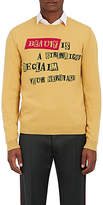 """Valentino Men's """"Beauty Is A Birthright"""" Wool-Cashmere Sweater"""