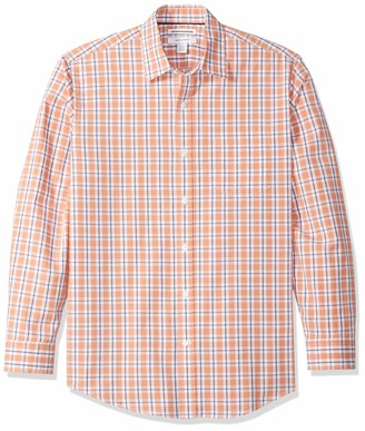 Amazon Essentials Regular-Fit Long-Sleeve Plaid Shirt Red/Blue) Small