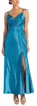 Night Way Nightway Petite Shimmer Gown