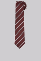 Hardy Amies Burgundy & Grey Stripe Tie