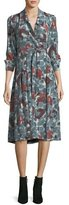 Burberry Heritage Printed Silk Wrap Dress