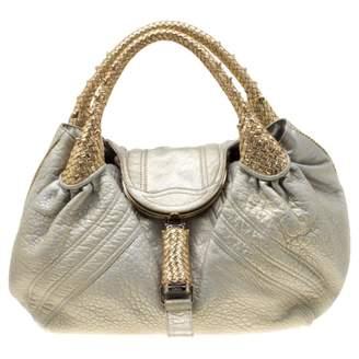Fendi Spy Gold Leather Handbags