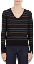 Gerard Darel Lilo V-Neck Striped Sweater
