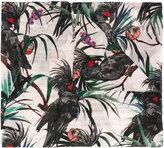 Paul Smith Kakatoo motive print scarf - women - Silk/Cotton - One Size